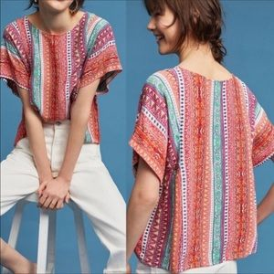 Anthropology Maeve Multicolored Top Sz S